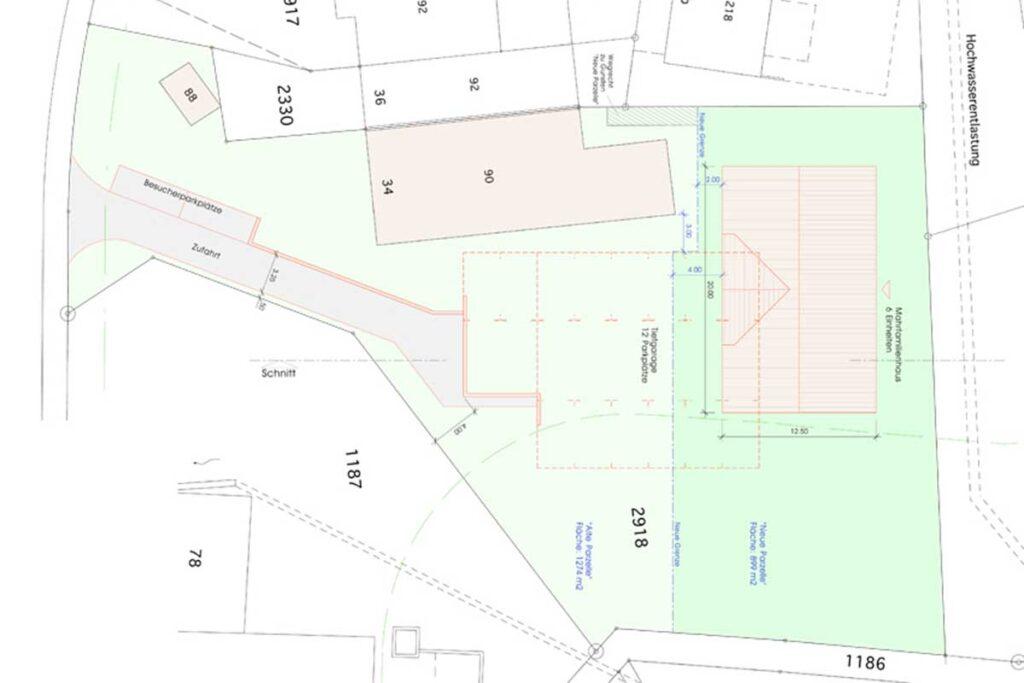 Immobilien Zu Verkaufen Grundstück Birchwil Zürich Schweiz Situation